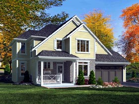 House Plan 50174 | Craftsman Style Plan with 2088 Sq Ft, 4 Bedrooms, 3 Bathrooms, 2 Car Garage Elevation