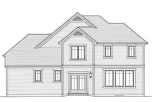 Craftsman House Plan 50174 Rear Elevation