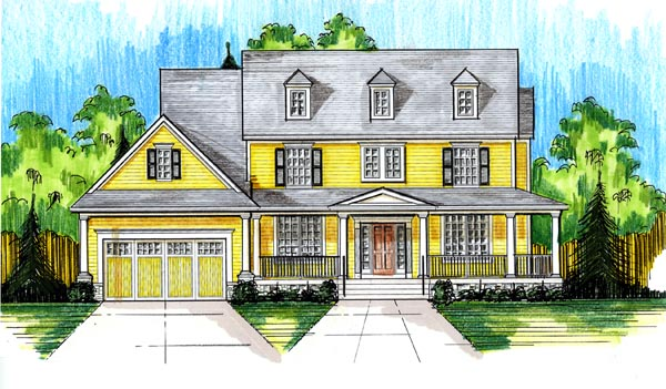 Colonial Country House Plan 50177 Elevation