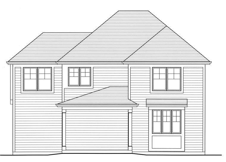 Tudor House Plan 50178 Rear Elevation
