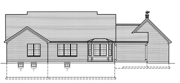 Cape Cod Country House Plan 50179 Rear Elevation