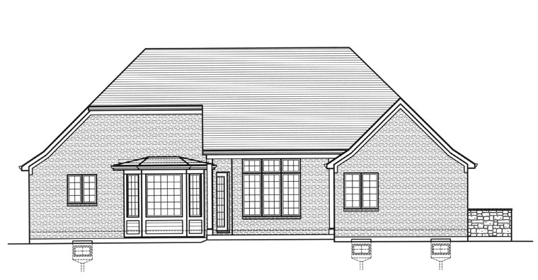 Traditional House Plan 50180 Rear Elevation
