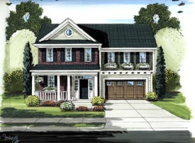Traditional House Plan 50186 with 4 Beds, 3 Baths, 2 Car Garage Elevation