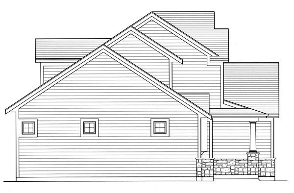 Traditional House Plan 50189 with 3 Beds, 3 Baths, 2 Car Garage Picture 1