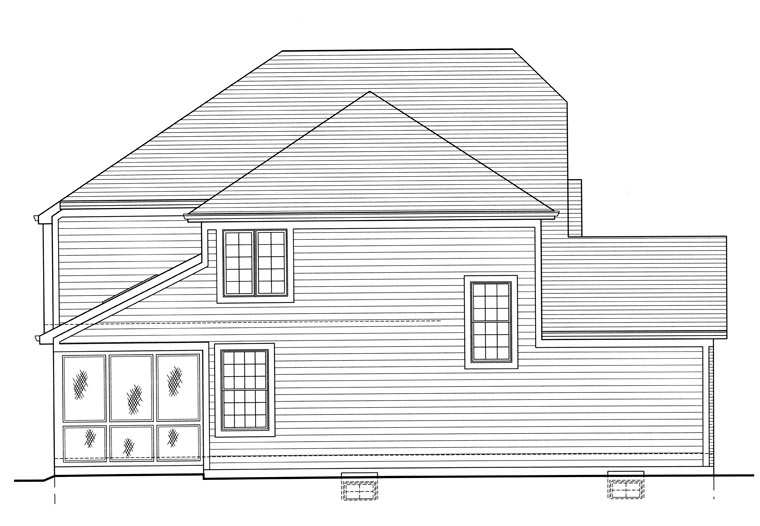 Cottage, Craftsman House Plan 50191 with 4 Beds, 3 Baths, 2 Car Garage Picture 1