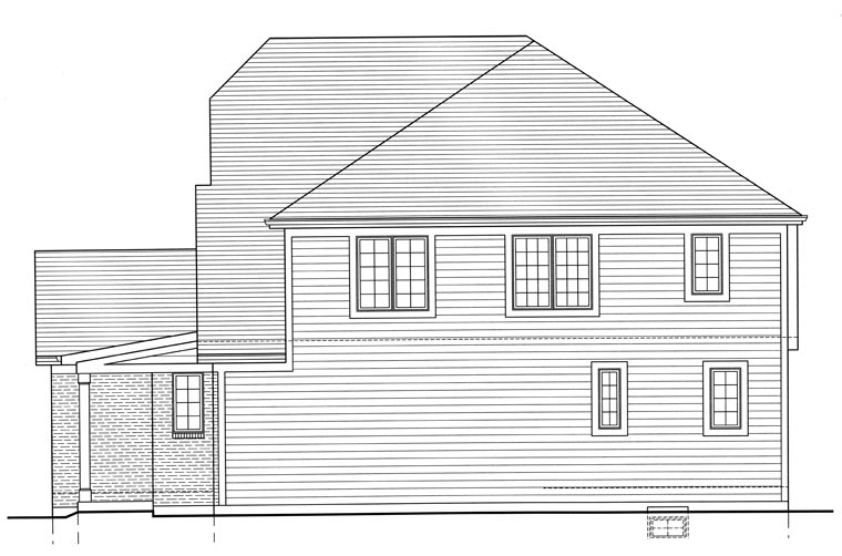 Cottage, Craftsman House Plan 50191 with 4 Beds, 3 Baths, 2 Car Garage Picture 2