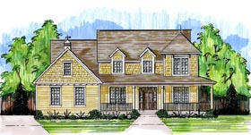 House Plan 50192 | Traditional Style Plan with 2478 Sq Ft, 4 Bedrooms, 3 Bathrooms, 2 Car Garage Elevation