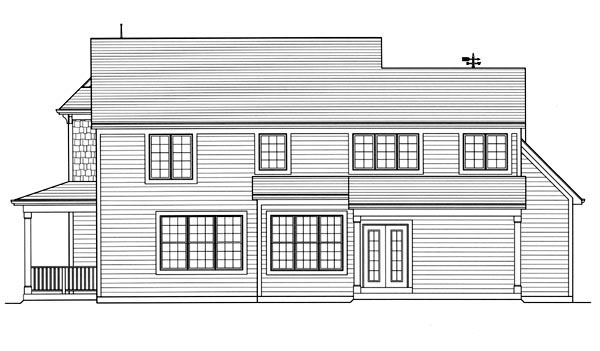 Traditional House Plan 50192 Rear Elevation