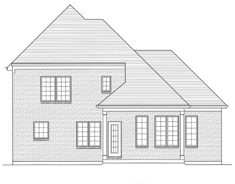 Traditional House Plan 50193 Rear Elevation