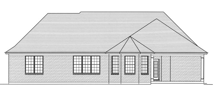 Cottage House Plan 50195 Rear Elevation
