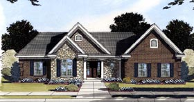Ranch Traditional House Plan 50196 Elevation
