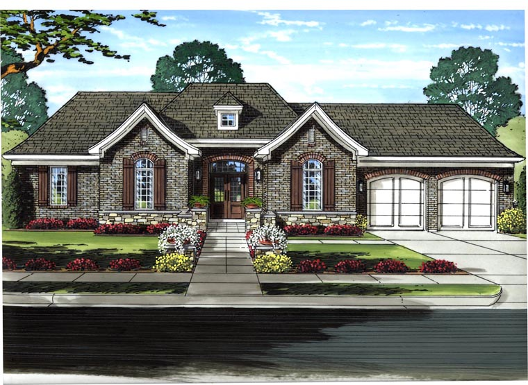 Country European House Plan 50197 Elevation