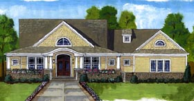 Cape Cod , Country , Craftsman House Plan 50198 with 4 Beds, 3 Baths, 3 Car Garage Elevation