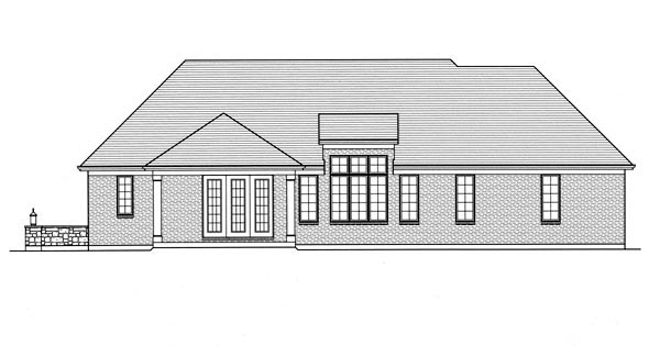 Traditional House Plan 50199 Rear Elevation