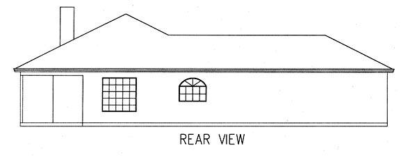 Mediterranean House Plan 50202 Rear Elevation