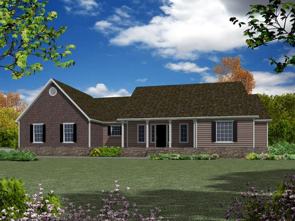 Ranch House Plan 50220 Elevation