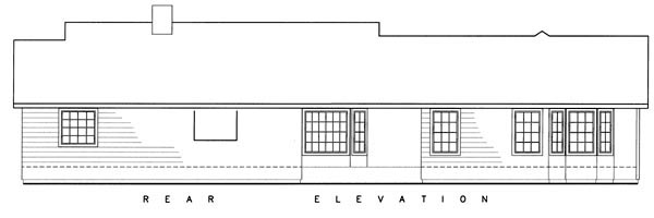 Ranch House Plan 50220 Rear Elevation