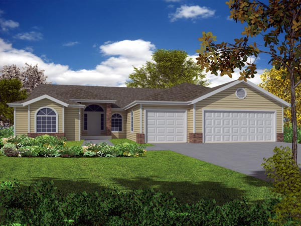Ranch House Plan 50221 Elevation