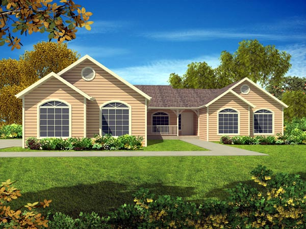 Ranch House Plan 50222 Elevation
