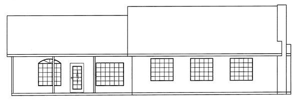 Ranch House Plan 50222 Rear Elevation