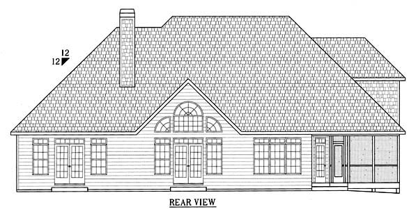 Craftsman House Plan 50227 Rear Elevation