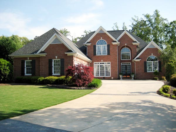 European House Plan 50231 with 3 Beds, 3 Baths, 3 Car Garage Front Elevation