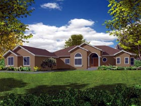 Mediterranean House Plan 50232 with 4 Beds, 3 Baths, 2 Car Garage Elevation