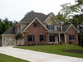 Craftsman House Plan 50233 with 4 Beds, 4 Baths, 3 Car Garage Elevation