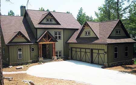 Cottage House Plan 50235 with 4 Beds, 4 Baths, 3 Car Garage Elevation