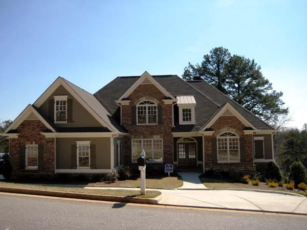 Craftsman House Plan 50237 with 4 Beds, 4 Baths, 3 Car Garage Elevation