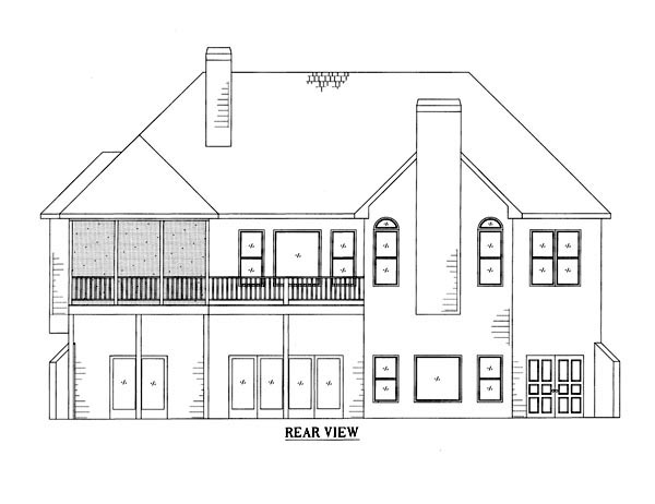 Ranch House Plan 50238 Rear Elevation