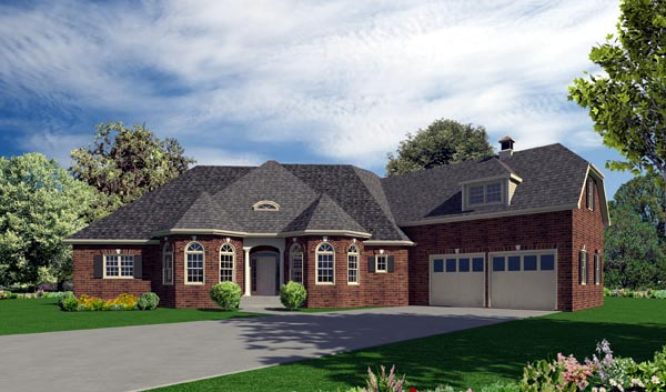 European House Plan 50239 Elevation
