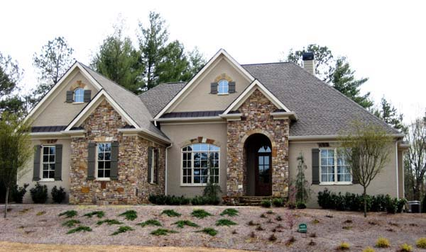 House Plan 50249 | Ranch Style House Plan with 4077 Sq Ft, 4 Bed, 4 Bath, 3 Car Garage Elevation