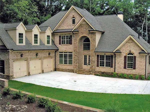 European House Plan 50251 with 4 Beds , 5 Baths , 3 Car Garage Elevation