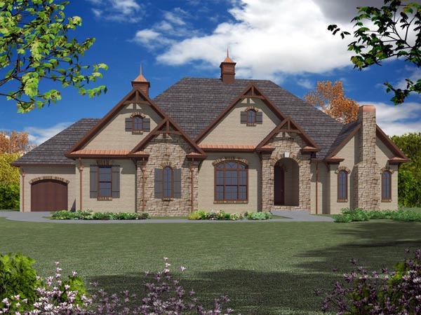 European House Plan 50253 Elevation