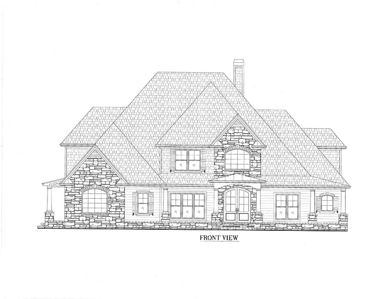 Traditional, Southern, European, House Plan 50254 with 4 Beds, 4 Baths, 2 Car Garage