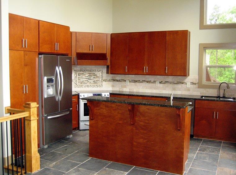 Contemporary craftsman modern prairie style house plan 50258 for Frank lloyd wright kitchen ideas