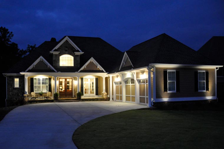 House Plan 50260 | Craftsman Style Plan with 3807 Sq Ft, 4 Bedrooms, 4 Bathrooms, 3 Car Garage