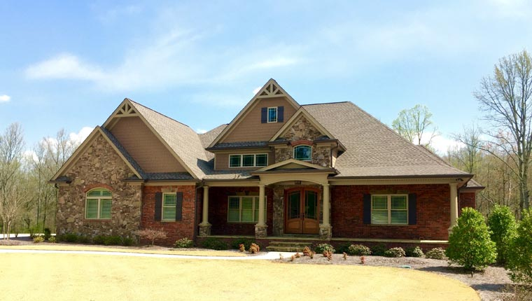 House Plan 50261 | Craftsman French Country Traditional Style Plan with 2842 Sq Ft, 3 Bedrooms, 2 Bathrooms, 2 Car Garage