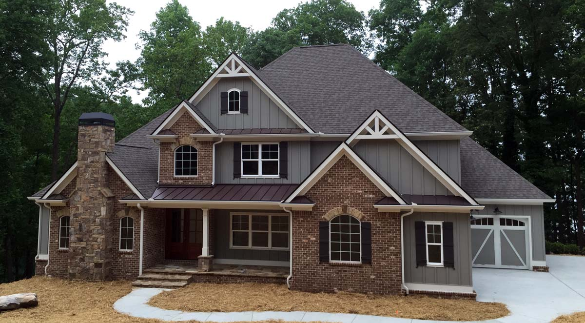 Click Here To See An Even Larger Picture. Craftsman French Country  Traditional House Plan ...