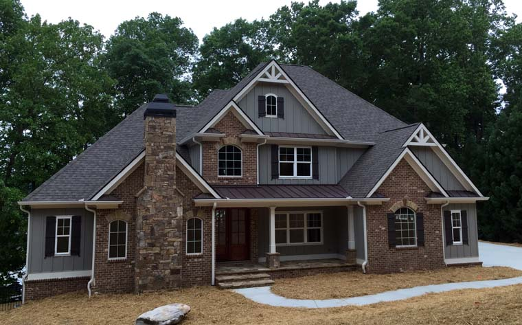 Craftsman french country traditional house plan 50263 for Big two story houses