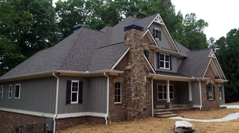 Traditional, FrenchCountry, Craftsman, House Plan 50263 with 4 Beds, 4 Baths, 3 Car Garage