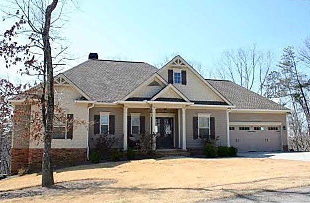 House Plan 50265 | Southern Traditional Style Plan with 2303 Sq Ft, 3 Bedrooms, 3 Bathrooms, 2 Car Garage Elevation
