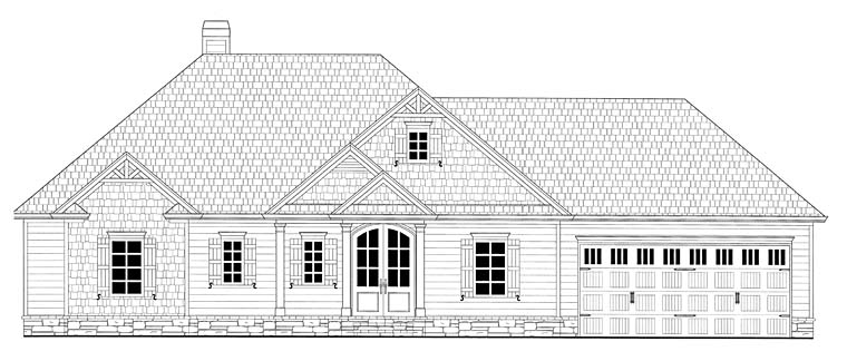 Southern Traditional House Plan 50265