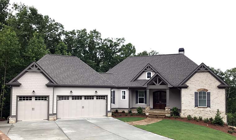 Cottage , Country , Craftsman , Traditional House Plan 50268 with 4 Beds, 4 Baths, 3 Car Garage Elevation