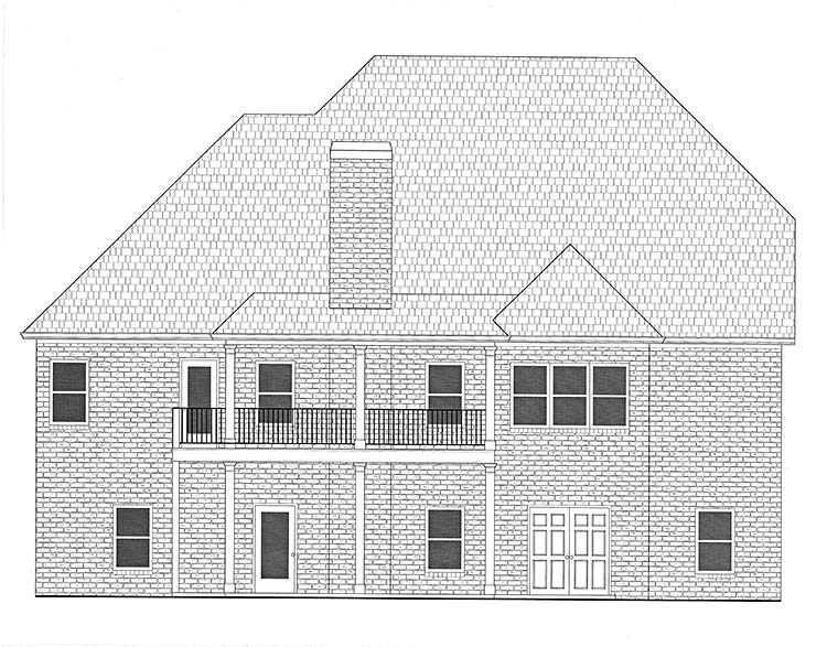 Traditional House Plan 50272 Rear Elevation