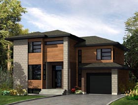 Contemporary House Plan 50300 Elevation