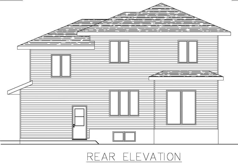 Contemporary House Plan 50300 Rear Elevation