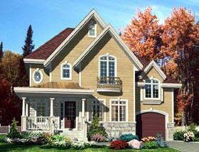 European House Plan 50301 Elevation