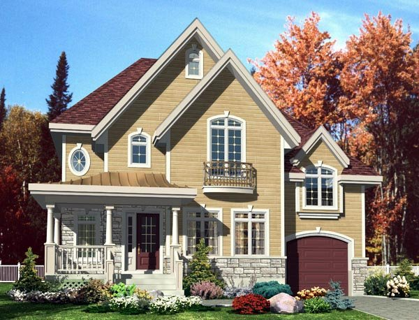 European House Plan 50301 Elevation